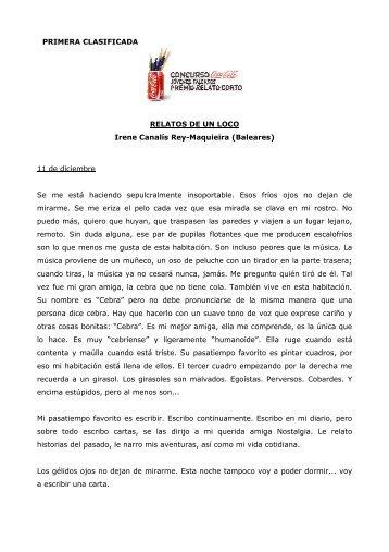 PRIMERA CLASIFICADA RELATOS DE UN LOCO ... - Coca-Cola