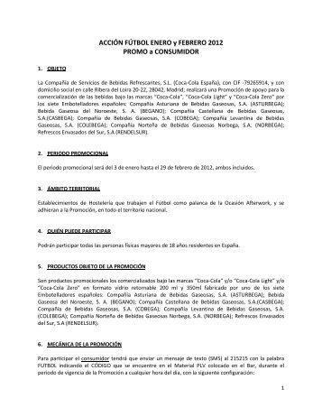 ACCIÓN FÚTBOL ENERO y FEBRERO 2012 PROMO a CONSUMIDOR