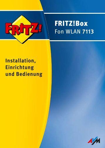 Handbuch FRITZ!Box Fon WLAN 7113 - AVM