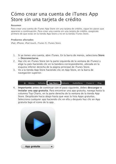 Como Crear Una Cuenta De Itunes App Store Sin Una Tarjeta De Credito