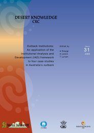Outback Institutions: An application of the Institutional ... - Ninti One