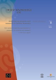 Undertaking projects and research in Central Australia - CRC-REP