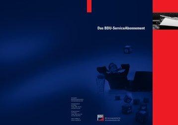Das BDU-ServiceAbonnement - Bundesverband Deutscher ...