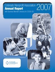 Colorado Nonprofit Association Annual Report
