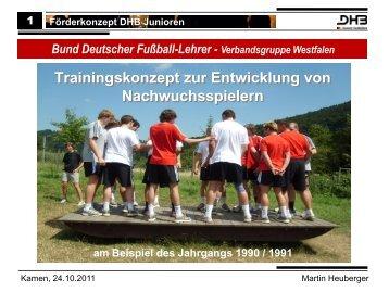 Förderkonzept DHB Junioren - BDFL