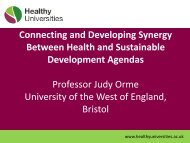 Prof Judy Orme - Health Wellbeing and Sustainable Development