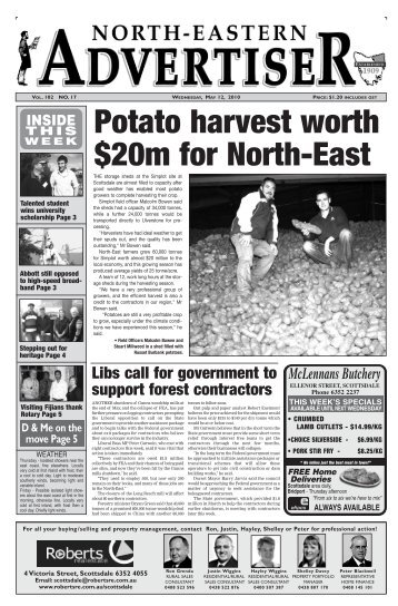 Potato harvest worth $20m for North-East