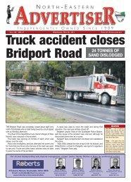Truck accident closes Bridport Road