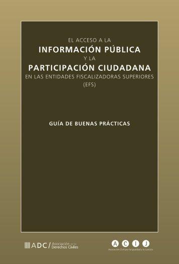 El acceso a la Información publica y la - Auditoría General de la ...
