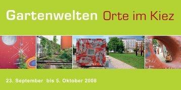 Gartenwelten - BDLA Bund Deutscher Landschaftsarchitekten