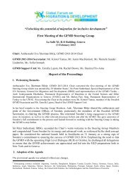 Report of the Proceedings - Global Forum on Migration and ...