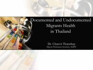 Documented and Undocumented Migrants Health in Thailand