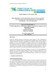 Gestión migratoria y reducción al mínimo de los efectos negativos ...