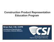 Construction Product Representation Education Program