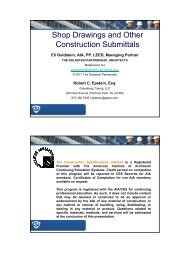 Shop Drawings and Other Construction Submittals
