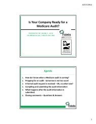 Is Your Company Ready for a Medicare Audit?