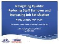Reducing Staff Turnover and Increasing Job Satisfaction