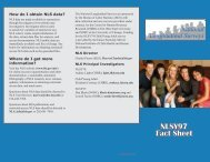 NLSY97 Fact Sheet