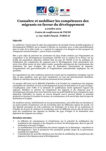 Connaître et mobiliser les compétences des migrants en faveur du ...