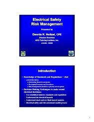 Electrical Safety Risk Management
