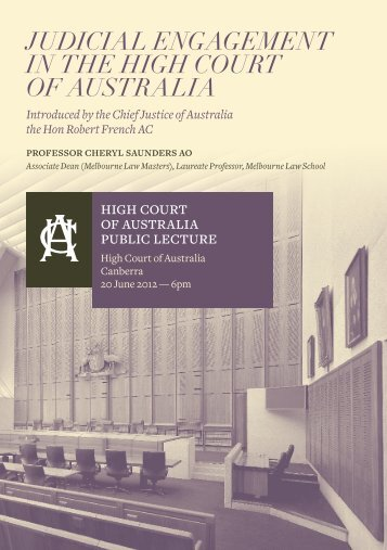 Judicial Engagement in the High Court of Australia