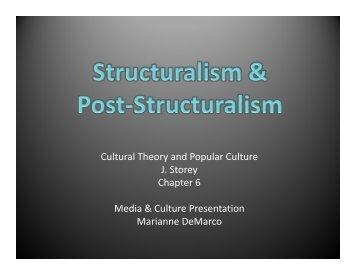 Structuralism & Post-Structuralism Presentation - Marianne DeMarco ...