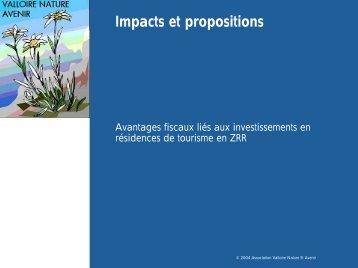 Impacts et propositions