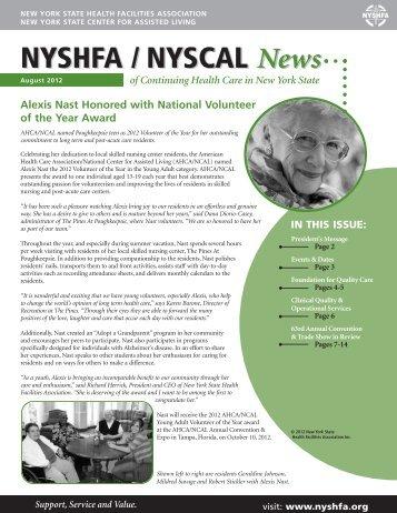 NYSHFA /NYSCAL News