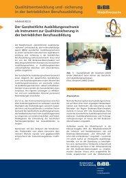 sicherung in der betrieblichen Berufsausbildung - BiBB