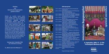 Internationales Begegnungsfest sp ielend verstehen - BICC