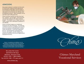 Chimes Maryland Vocational Services