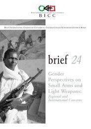 Gender Perspectives on Small Arms and Light Weapons - BICC