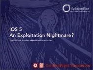 iOS 5 An Exploitation Nightmare?