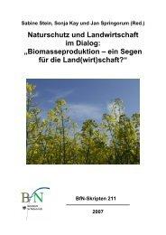 Biomasse - Bundesamt für Naturschutz