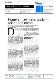 Frauen investieren anders oder doch nicht? - Basler  Kantonalbank