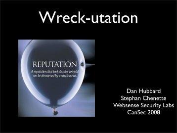 Web Wreck-utation - CanSecWest