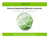 Reverse Engineering Malicious Javascript - CanSecWest