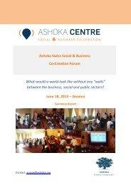 Ashoka Swiss Social & Business Co-Creation Forum What would a ...