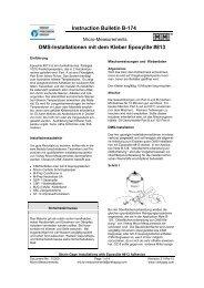 Instruction BulletinB-174 DMS-Installationen mit dem Kleber ...