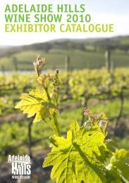 ADELAIDE HILLS WINE SHOW 2010 EXHIBITOR CATALOGUE