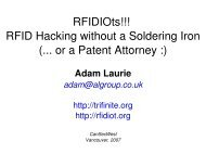 RFIDIOts!!! RFID Hacking without a Soldering Iron (.. or a Patent Attorney :)