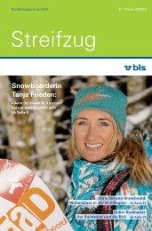 Snowboarderin Tanja Frieden: - BLS AG