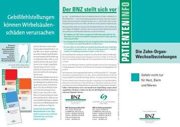 Die Zahn-Organ - BNZ