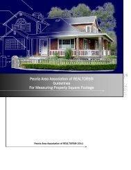 Peoria Area Association of REALTORS® Guidelines For ... - RealOA