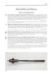 Antike Waffen und Militaria