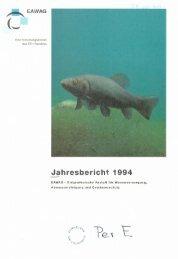 Jahresbericht 1994 - Eawag-Empa Library / Empa-Eawag Bibliothek