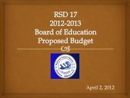Board of Education Proposed Budget - Regional School District 17