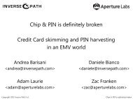 Chip & PIN is definitely broken Credit Card skimming ... - CanSecWest