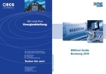 BMEnet Guide Beratung 2010