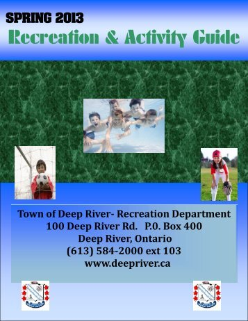 Recreation & Activity Guide - Town of Deep River